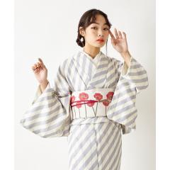 【ふりふWEB限定】洗える!セレクト着物「レトロストライプ」(¥10,000+tax)