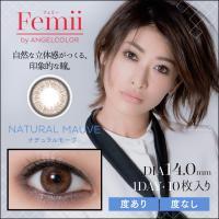 ポイント10倍!!【ナチュラルモーヴ】 Femii 1day フェミー ワンデー 10枚 【T-Garden】