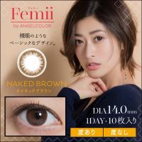 ポイント10倍!!【ネイキッドブラウン】 Femii 1day フェミー ワンデー 10枚 【T-Garden】