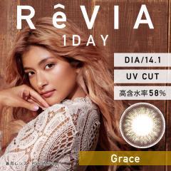 ポイント5倍![Graceグレース]ReVIA 1day color レヴィア ワンデー カラー 10枚 [Lcode]