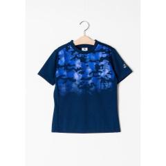 キッズ Tシャツ グラフィック ブルー (サイズ120)