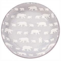 みのる陶器 白くま 軽量カレー グレー