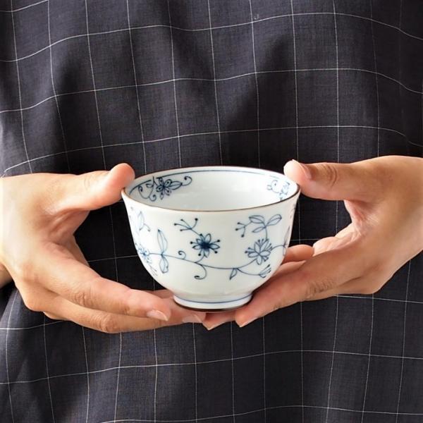 みのる陶器 線唐草 ゆらぎ煎茶 美濃焼