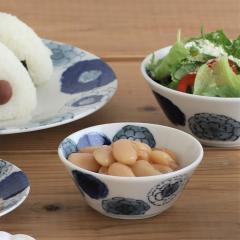 みのる陶器 蒼花-souka- 軽量パックボウル S 蓋無 ブルー 美濃焼