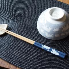 みのる陶器 しろくま グレー 23.0cm(食洗機対応)