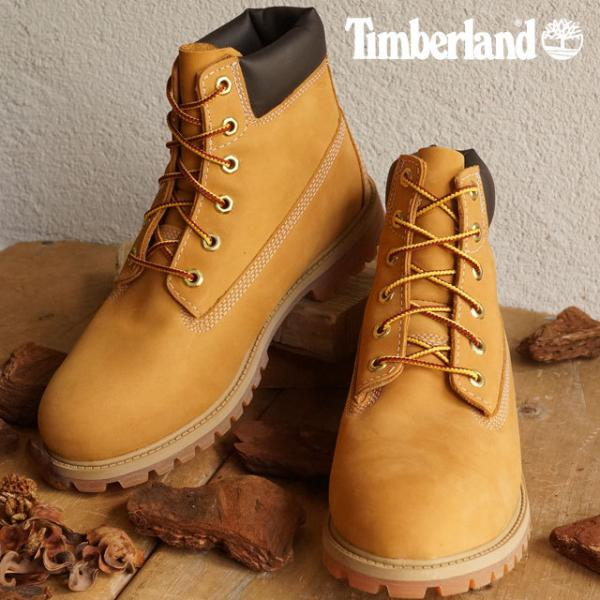 【SALE】送料無料 Timberland ティンバーランド ブーツ レディース対応 ジュニア規格 6 inch Premium Waterproof  Boot 6インチ プレミアム ウォータープルーフ ブーツ Wheat Nubuck 靴 (12909)