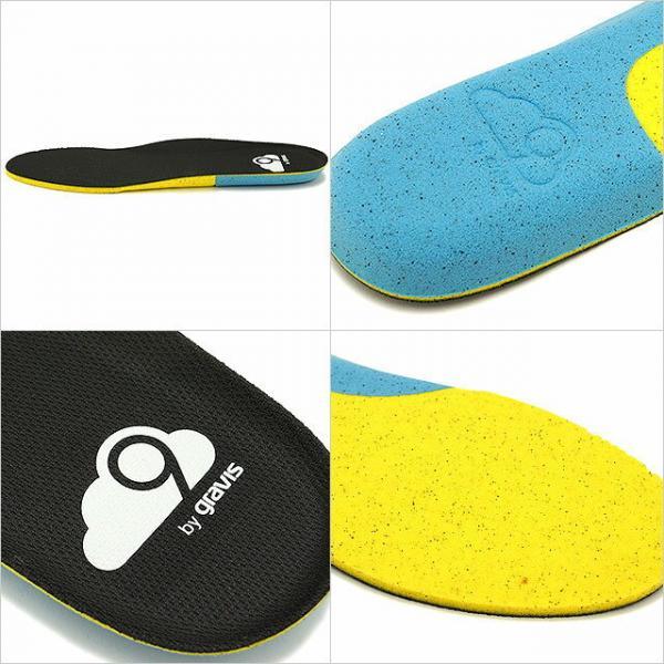 gravis グラビス メンズ INSOLE 高衝撃吸収性 クラウド9レベル2フットベッド インソール 中敷き BLACK 靴 (C9Lv2 SS17)