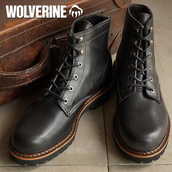 8be2f2f2099 【SALE】送料無料 ウルヴァリン デュバル ワークブーツ WOLVERINE ウルバリン メンズ DUVALL BLACK 靴 (W40042)