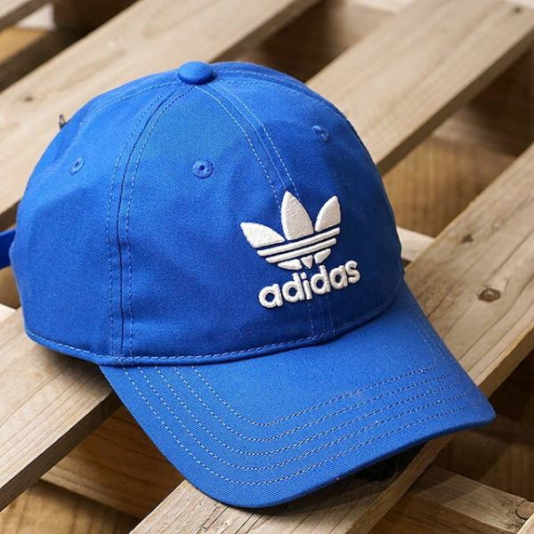 d742507a 【SALE】アディダス オリジナルス トレフォイル キャップ adidas Originals TREFOIL CAP ブルー (MLH55/