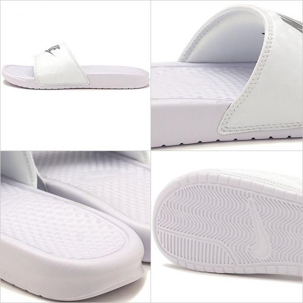 【SALE】NIKE ナイキ レディース スライドサンダル 靴 WMNS BENASSI JDI ウィメンズ ベナッシ JDI ホワイト/Mシルバー (343881-102 SU17)