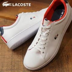 送料無料 LACOSTE ラコステ スニーカー 靴 メンズ MNS CARNABY EVO カーナビー エボ WHT/NVY (SPM0003-042 FW17)