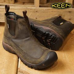 送料無料 KEEN キーン サイドゴアブーツ メンズ MENS Anchorage Boot III WP アンカレッジ ブーツ スリー ウォータープルーフ Dark Earth/Mulch 靴 (1017790 FW17)
