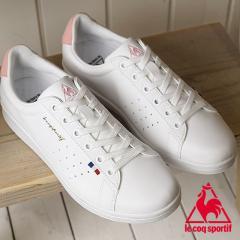 送料無料 le coq sportif ルコックスポルティフ レディース スニーカー 靴 LA ROLAND SL ローラン SL ホワイト/ピンク (QL1LJC16WP SS18)