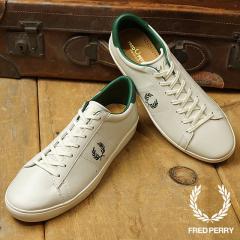 FRED PERRY フレッドペリー スニーカー 靴 メンズ・レディース SPENCER LEATHER スペンサー レザー  PORCELAIN/IVY GREEN B8221-254 ... 8f616e2d81