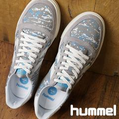 【SALE】hummel ヒュンメル メンズ・レディース スニーカー 靴 SLIMMER STADIL PRINT LOW スリマー スタディール プリント ロー ALLOY グレー (HM201589-1100 SS18)