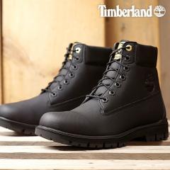 送料無料 Timberland ティンバーランド メンズ Rubberized 6inch Waterproof Bootラバーライズド 6インチ ブーツ Jet Black Rubberized 靴 (A1R7B FW18)