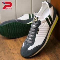 送料無料 パトリック PATRICK マラソン MARATHON メンズ レディース スニーカー 靴 ホワイト W.TGR (94050 FW18)