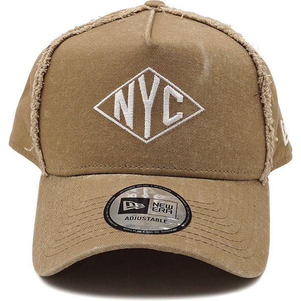 27c82e6a20fba4 送料無料 ニューエラ キャップ NEWERA NYC ダメージ加工 9FORTY DAMAGE スナップバック 帽子 メンズ レディース カーキ