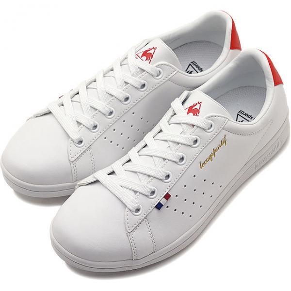 【SALE】ルコック le coq sportif LA ローラン SL LA ROLAND SL レディース スニーカー 靴 ホワイト/レッド (QL1NJC08WR-161 SS19)