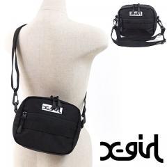 【SALE】X-girl エックスガール ADVENTURE SHOULDER BAG アドベンチャー ショルダーバッグ ミニショルダー XGIRL ブラック (05171008 FW18)