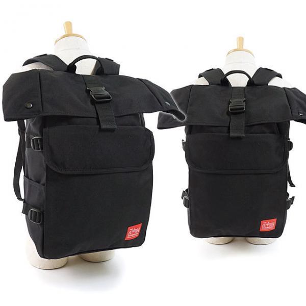 送料無料 送料無料 マンハッタンポーテージ Manhattan Portage シルバーカップ バックパック Silvercup Backpack ロールトップ リュックサック デイパック メンズ レディース かばん BLACK (MP1236-35TH FW18)