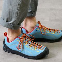 【SALE】送料無料 キーン KEEN メンズ ジャスパー MEN JASPER アウトドア スニーカー 靴 Ethereal Blue/Lemon Chrome (1020303 SS19)