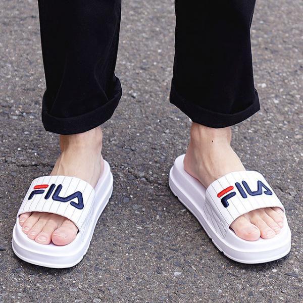 【SALE】フィラ FILA ドリフター ジャッキアップ ストライプ DRIFTER JACKED STRIPE メンズ レディース 厚底 ストラップサンダル 靴 ホワイト (F0372-2091 SU19)