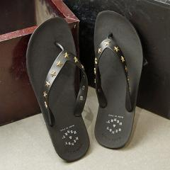 【SALE】送料無料 ヘンリー アンド ヘンリー HENRY & HENRY フリッパー スター FRIPPER STAR メンズ レディース サンダル ビーチサンダル 靴 BLK/GOLD ブラック系 (42053-007 SS19)