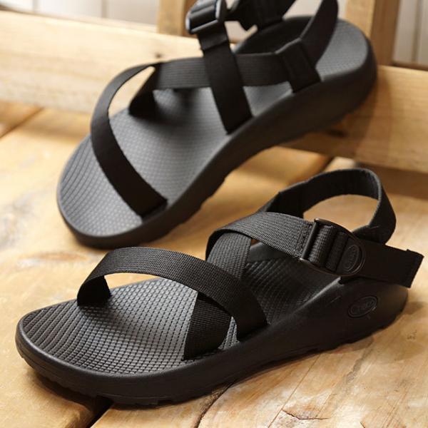 送料無料 チャコ Chaco メンズ ゼットクラウド MNS ZCLOUD ストラップ サンダル スポーツサンダル 靴 SOLIDBLACK ブラック系 (J106763 SS19)