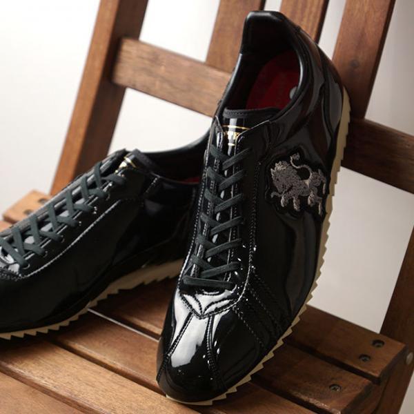送料無料 パトリック PATRICK 日本製 シュリオン SULLION メンズ レディース エナメル スニーカー 靴 BLK ブラック系  [531451 SS19Q2]