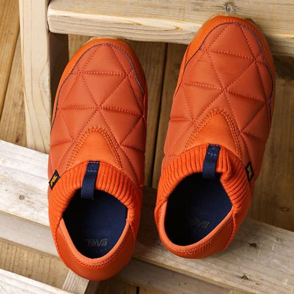 送料無料 テバ Teva レディース エンバーモック W EMBER MOC キャンプモック キルティング スリッポン 靴 RTEA オレンジ系 [1018225 FW19]