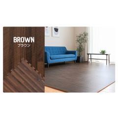<LOHACO> ジョイントマット 木目調 極厚タイプ(20mm) ブラウン