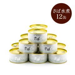 【ご自宅用】大ぶりさばの缶詰 水煮 12缶セット ( さば缶 )