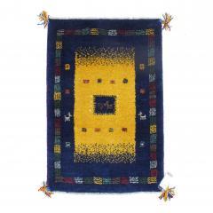 ギャッベ ギャベ 60×85 イラン製 ペルシャ ミニラグ マット 手織り ウール100% 草木染め デザイン:02