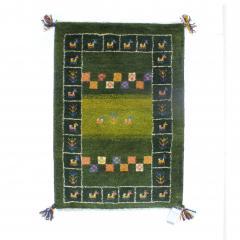 ギャッベ ギャベ 60×85 イラン製 ペルシャ ミニラグ マット 手織り ウール100% 草木染め デザイン:05
