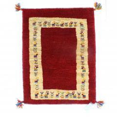 ギャッベ ギャベ 60×85 イラン製 ペルシャ ミニラグ マット 手織り ウール100% 草木染め デザイン:06
