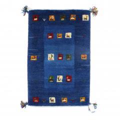 ギャッベ ギャベ 60×85 イラン製 ペルシャ ミニラグ マット 手織り ウール100% 草木染め デザイン:08
