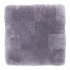 ムートンクッション 淡色 40×40 薄藤 日本製 シートクッション 座布団