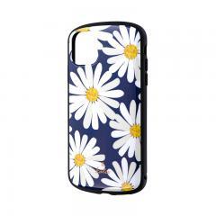 iPhone 11 超軽量・極薄・耐衝撃ハイブリッドケース「PALLET Katie」 マーガレットネイビー