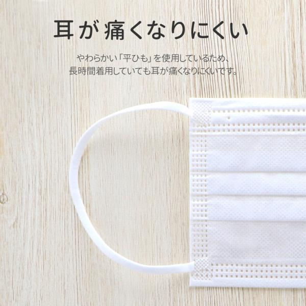 不織布マスク 50枚入/箱 個包装あり ふつうサイズ ホワイト BFEフィルター採用 大人用マスク 携帯用 +Life プラスライフ