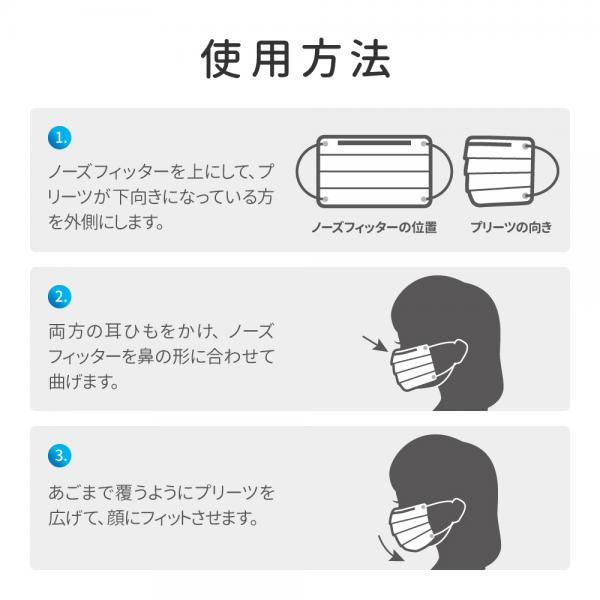 不織布マスク 小さめサイズ 50枚入/箱 個包装あり ホワイト BFEフィルター採用 小さめ・女性用 携帯用 +Life プラスライフ