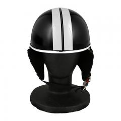 XEAM純正 ハーフヘルメット クールブラック notte フリーサイズ 耳あて着脱可能 SG規格適合 PSCマーク付き XEAM notte メットイン収納可能 排気量125cc以下 バイクヘルメット 防災