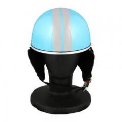 XEAM純正 ハーフヘルメット ライトブルー notte フリーサイズ 耳あて着脱可能 SG規格適合 PSCマーク付き XEAM notte メットイン収納可能 排気量125cc以下 バイクヘルメット 防災
