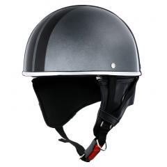 XEAM純正 ハーフヘルメット メタルグレー notte フリーサイズ 耳あて着脱可能 SG規格適合 PSCマーク付き XEAM notte メットイン収納可能 排気量125cc以下 バイクヘルメット 防災