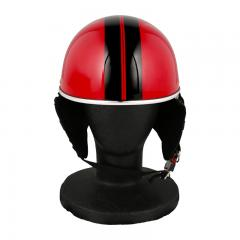 XEAM純正 ハーフヘルメット ピュアレッド notte フリーサイズ 耳あて着脱可能 SG規格適合 PSCマーク付き XEAM notte メットイン収納可能 排気量125cc以下 バイクヘルメット 防災