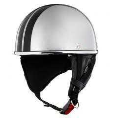 XEAM純正 ハーフヘルメット プライムシルバー notte フリーサイズ 耳あて着脱可能 SG規格適合 PSCマーク付き XEAM notte メットイン収納可能 排気量125cc以下 バイクヘルメット 防災