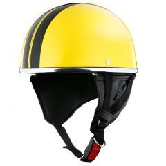 XEAM純正 ハーフヘルメット パールイエロー notte フリーサイズ 耳あて着脱可能 SG規格適合 PSCマーク付き XEAM notte メットイン収納可能 排気量125cc以下 バイクヘルメット 防災