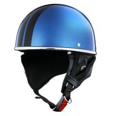 XEAM純正 ハーフヘルメット ロイヤルブルー notte フリーサイズ 耳あて着脱可能 SG規格適合 PSCマーク付き XEAM notte メットイン収納可能 排気量125cc以下 バイクヘルメット 防災