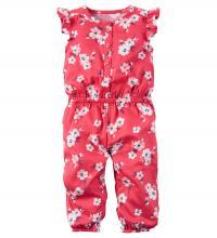 118G9246 Carter's カーターズ フローラルジャンプスーツ(ピンク) (6M)