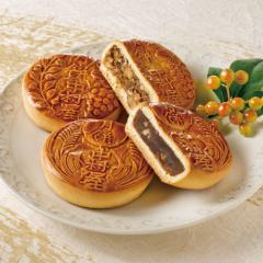 新宿中村屋 月餅 8コ入【小豆餡・木の実餡】【和菓子・焼菓子】
